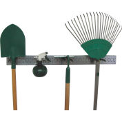 "Wall Control Pegboard Strip Garden Tool Organizer Kit, Galvanized Black, 32"" X 2-1/2"" X 6"""