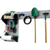 "Wall Control Pegboard Garden Tool Board Organizer, Gray/Black, 48"" X 32"" X 9"""