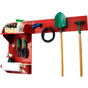 "Wall Control Pegboard Garden Tool Board Organizer, Red, 48"" X 32"" X 9"""