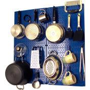 """Wall Control Kitchen Pegboard Pack Storage & Organization Kit, Blue, 32"""" X 32"""" X 6"""""""