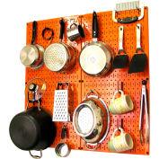 "Wall Control Kitchen Pegboard Pack Storage & Organization Kit, Orange/Blue, 32"" X 32"" X 6"""
