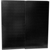 "Wall Control Pegboard Pack- 2 Panels, Black Metal, 32"" X 32"" X 3/4"""