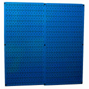 "Wall Control Pegboard Pack- 2 Panels, Blue Metal, 32"" X 32"" X 3/4"""