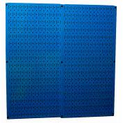 "Wall Control Pegboard Pack- 2 Panels, Blue Metal, 32"" X 32"" X 3/4"""