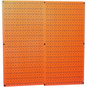 "Wall Control Pegboard Pack- 2 Panels, Orange Metal, 32"" X 32"" X 3/4"""