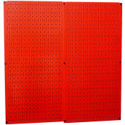 "Wall Control Pegboard Pack- 2 Panels, Red Metal, 32"" X 32"" X 3/4"""