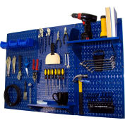"""Wall Control Pegboard Standard Tool Storage Kit, Blue, 48"""" X 32"""" X 9"""""""