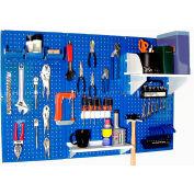 "Wall Control Pegboard Standard Tool Storage Kit, Blue/White, 48"" X 32"" X 9"""