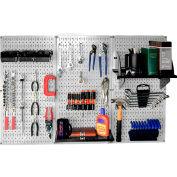 """Wall Control Pegboard Standard Tool Storage Kit, Gray/Black, 48"""" X 32"""" X 9"""""""