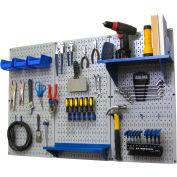 """Wall Control Pegboard Standard Tool Storage Kit, Gray/Blue, 48"""" X 32"""" X 9"""""""