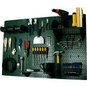 """Wall Control Pegboard Standard Tool Storage Kit, Green/Black, 48"""" X 32"""" X 9"""""""