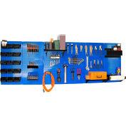 """Wall Control Pegboard Master Workbench Kit, Blue/Black, 96"""" X 32"""" X 9"""""""