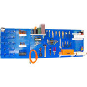 "Wall Control Pegboard Master Workbench Kit, Blue/White, 96"" X 32"" X 9"""