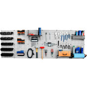 "Wall Control Pegboard Master Workbench Kit, Gray/Black, 96"" X 32"" X 9"""