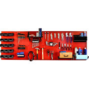 "Wall Control Pegboard Master Workbench Kit, Red/Black, 96"" X 32"" X 9"""