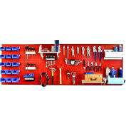 """Wall Control Pegboard Master Workbench Kit, Red/White, 96"""" X 32"""" X 9"""""""