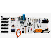 "Wall Control Pegboard Master Workbench Kit, White/Black, 96"" X 32"" X 9"""