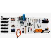 "Wall Control Pegboard Master Workbench Kit, White/Black, 96"" X 32"" X 9"""