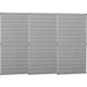 "Wall Control Industrial Metal Pegboard, Gray, 48"" X 32"" X 3/4"""