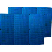 "Wall Control Industrial Metal Pegboard, Blue, 96"" X 32"" X 3/4"""