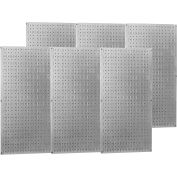 "Wall Control Industrial Metal Pegboard, Galvanized Metallic, 96"" X 32"" X 3/4"""