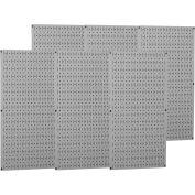 "Wall Control Industrial Metal Pegboard, Gray, 96"" X 32"" X 3/4"""