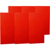 "Wall Control Industrial Metal Pegboard, Red, 96"" X 32"" X 3/4"""