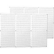 "Wall Control Industrial Metal Pegboard, White, 96"" X 32"" X 3/4"""