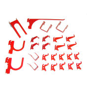 Wall Control Slotted Pegboard 26 pc Hook Kit, Red