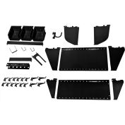 Wall Control Slotted Tool Board Workstation Accessory Kit For Pegboard & Slotted Tool Board, Black