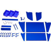 Wall Control Slotted Tool Board Workstation Accessory Kit For Pegboard & Slotted Tool Board, Blue