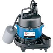 """Bell & Gossett 1EP0411A 3/4"""" Submersible Effluent Pump - 0.4 HP- 1550 RPM- 115V- 12 Amps"""