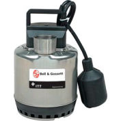 "Bell & Gossett SS0311AT 3/8"" Submersible Sump Pump - 0.33 HP- 115V - Piggyback Wide Angle Switch"