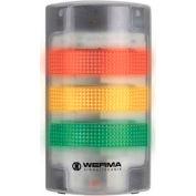 Werma 69110055 Flatsign BM 24V AC/DC, LED-Permanent/Blinking, 230 g, Green/Yellow/Red