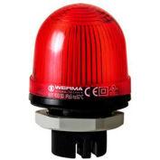 Werma 80010000 Permanent Beacon EM 12 - 240V AC/DC, IP65, 58 g, Red