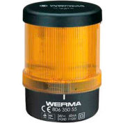 Werma 80635055 Monitored LED Beacon BWM 24V DC, IP65, Yellow
