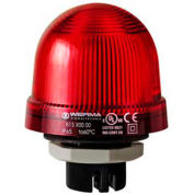 Werma 81710067 Flashing Beacon EM 115V AC, Flashing, 22 Ma, Red