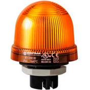 Werma 81730067 Flashing Beacon EM 115V AC, Flashing, 22 Ma, Yellow