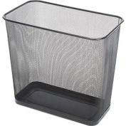 Rubbermaid® Rectangular Steel Mesh Wastebasket, 7.5 Gal. Black, FGWMB30RBK