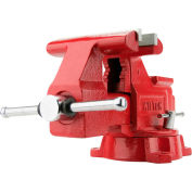 "Wilton 11126 Model 674 4-1/2"" Jaw Width 2-5/8"" Throat Depth Utility Workshop Vise W/ Swivel Base"