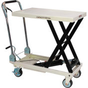 JET® SLT Series Scissor Lift Table with Folding Handle 140777 660 Lb. Cap.