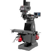 JTM-4VS Mill With 3-Axis ACU-RITE 200S DRO  With X and Y-Axis Powerfeeds and Power Draw Bar