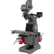 "JTM-4VS-1 Mill With Newall DP700 DRO With X and Y-Axis Powerfeeds and 6"" Riser Block"