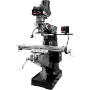 JET® 894214 ETM-949 Mill,3-Axis ACU-RITE 300 (Knee) DRO,Servo X,Y-Axis Pwrfds,USA Air P.Drw Br