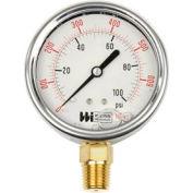 "2 1/2"" dial, liquid filled, 1/4"" NPT bottom, 0-30 PSI"