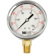 "2 1/2"" dial, liquid filled, 1/4"" NPT bottom, 0-200 PSI"
