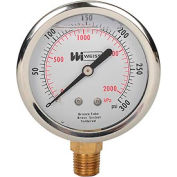 "2 1/2"" dial, liquid filled, 1/4"" NPT bottom, 0-300 PSI"