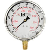"4"" dial , liquid filled, 1/4"" bottom, 0-300PSI"
