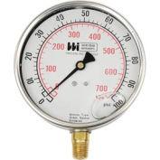 "4"" dial , liquid filled, 1/4"" bottom, 0-30"" VAC"