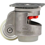 WMI® Stainless Steel Leveling Caster WMIS-80FUD 600 Lb. Capacity - Swivel Plate Mount